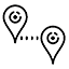 Icon of map pins